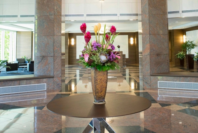 Corporate lobby arrangement